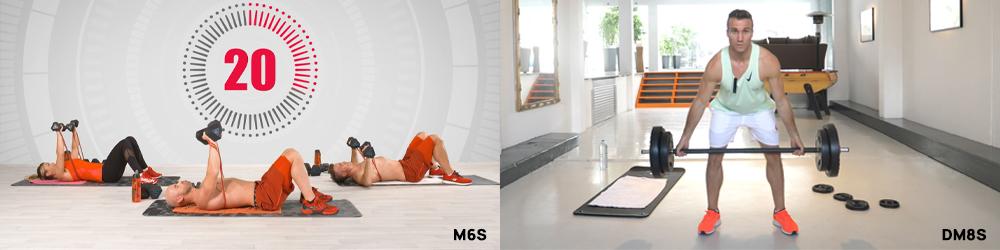 M6S et DM8S - 2 programmes d'entraînements MYF. Musculation à la maison.