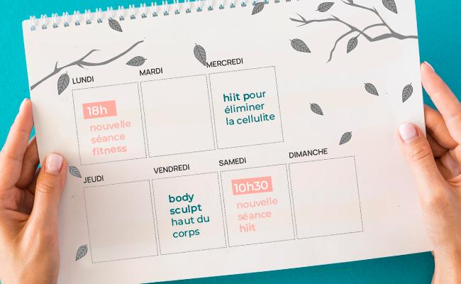 Planning pour rester motivé